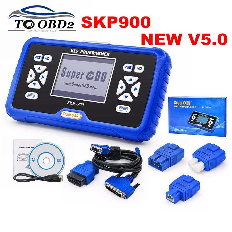 Beste Qualität 2018 Original NEUE SKP900 V5.0 SKP-900 BESTE hand OBD2 schlüssel programmierer Unterstützung fast Autos Update Online SKP 900