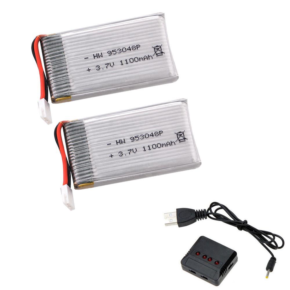 2 teile/los 3,7 V 1100 mah 25C 1 S VOLT 30C Lipo Batterie Akku + X4 Ladegerät Für Syma X5SW RC Quadcopter Drone