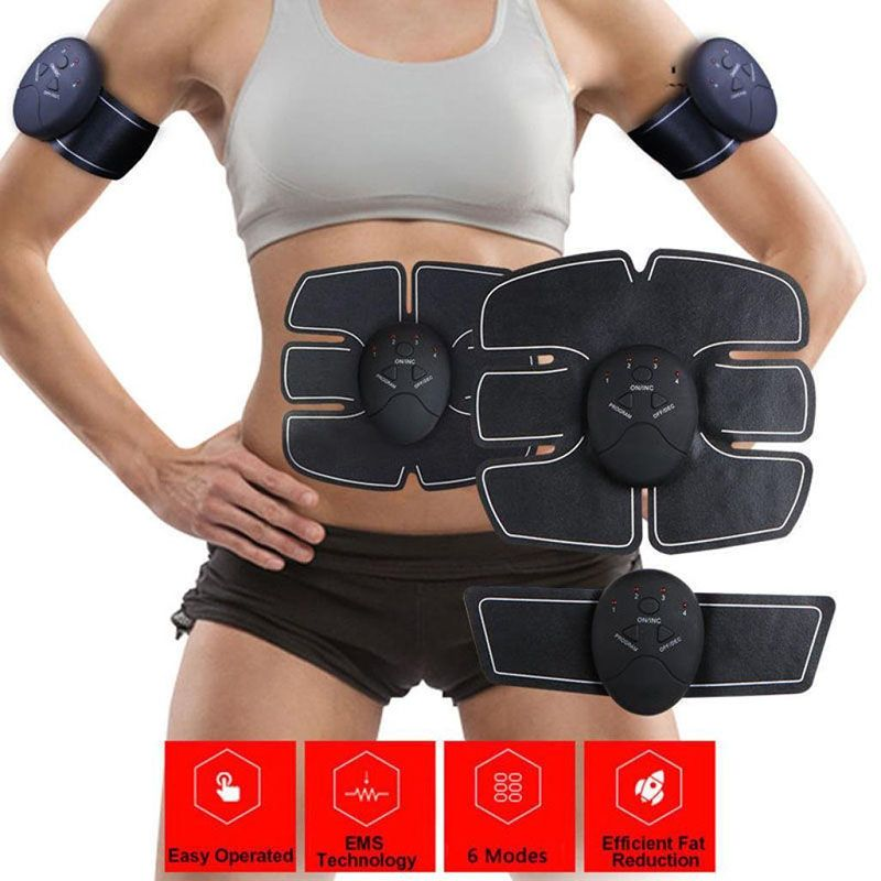 Durable Smart Stimulator <font><b>Training</b></font> Fitness Gear Muscle Abdominal Exerciser Toning Belt Battery Abs Fit High Quality
