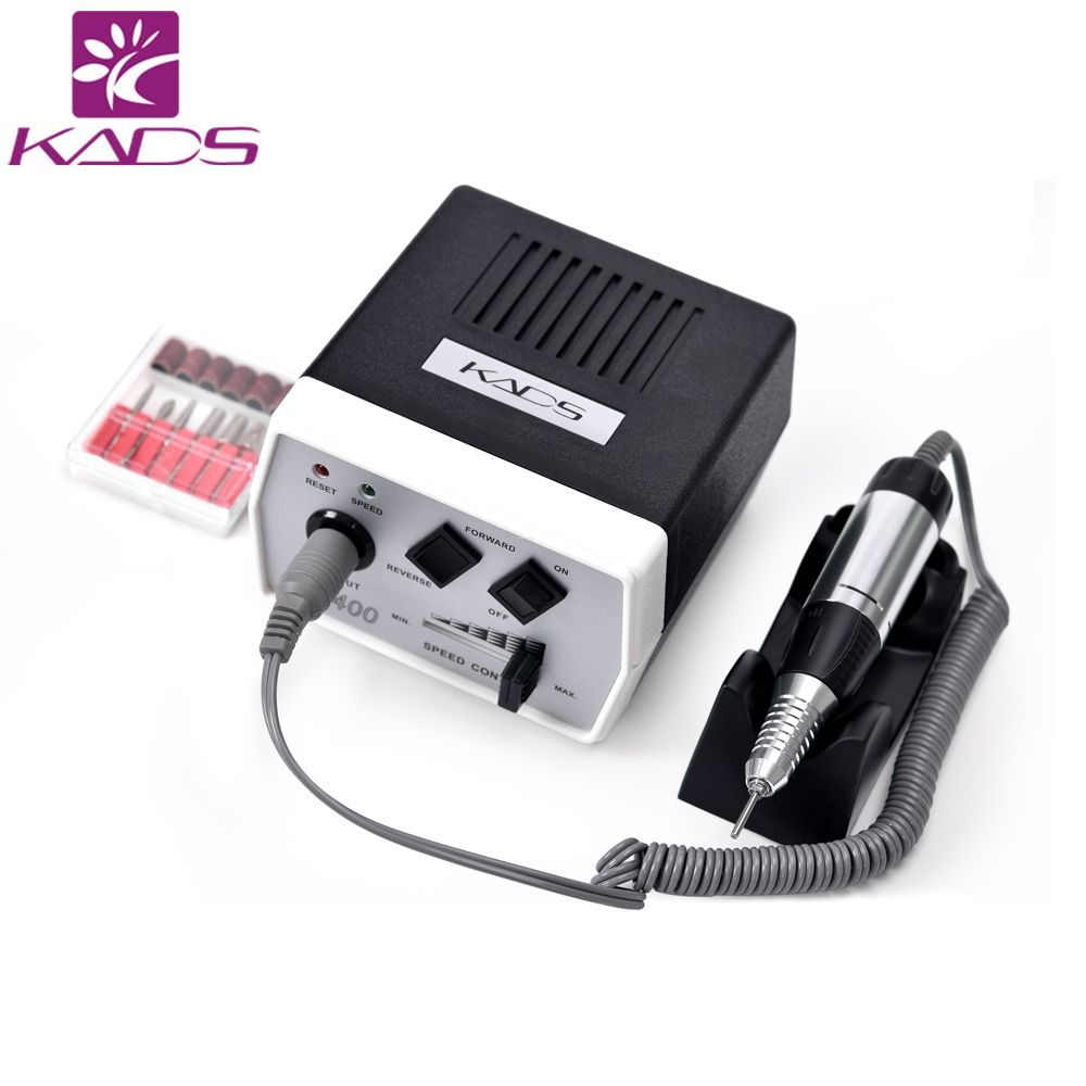 35W Black Pro Electric Nail Art Drill Machine Nail Equipment Manicure Pedicure Files Electric Manicure Drill & Accessory Tools