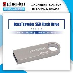 Asli Kingston USB Flash Drive 64GB Pendrives 32GB USB 2.0 Pen Drive 16GB 8GB Logam Bahan DTSE9H Flash USB STICK
