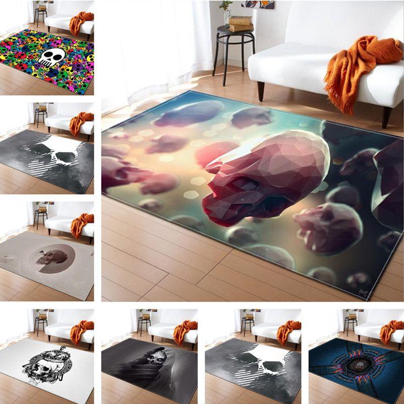 Creative Skull Delicate Europe Soft Carpet For Living Room Bedroom Kid Play <font><b>Decorative</b></font> Rug Home Floor Fashion Study Room Mat