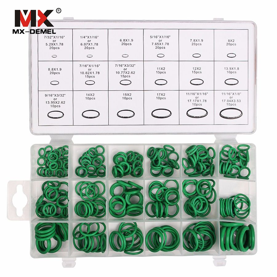 MX-DEMEL 270 pièces 18 tailles Kit climatisation HNBR O anneaux voiture Auto réparation outils caoutchouc climatisation réfrigérant anneau ensembles