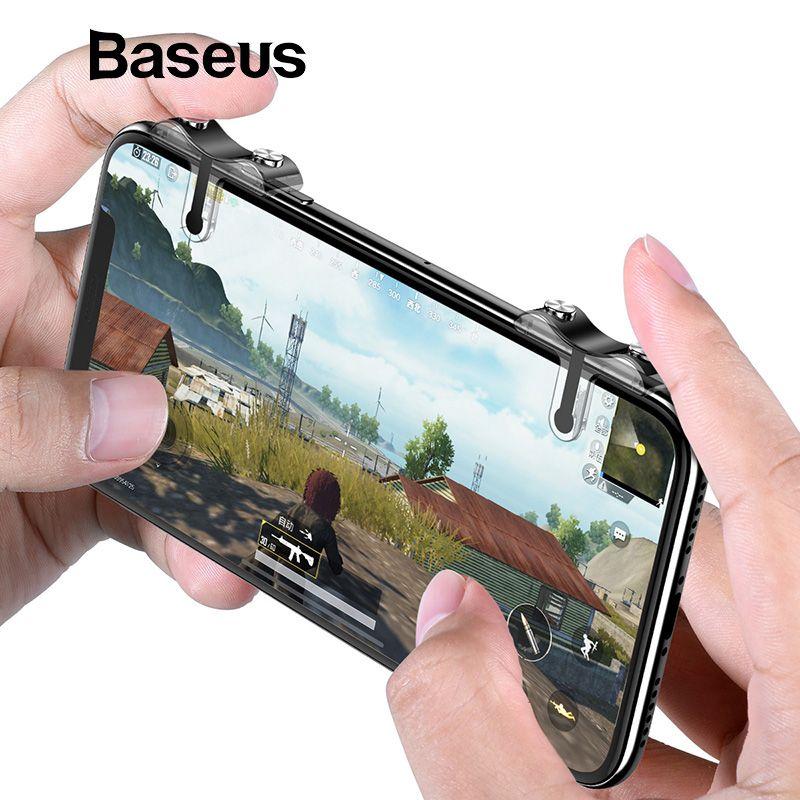 Baseus Handy Schießen Spiel Trigger Feuer Taste Ziel Schlüssel Tasten L1 R1 Handy Spiel Shooter Controller für Android IOS