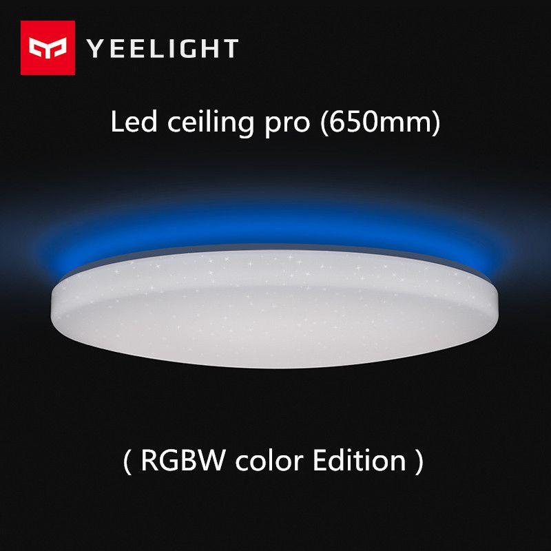 Xiaomi Yeelight Led plafond Pro 650mm RGB 50 W travail à mi maison app et google maison et Pour amazon Echo Pour xiaomi smart home kits