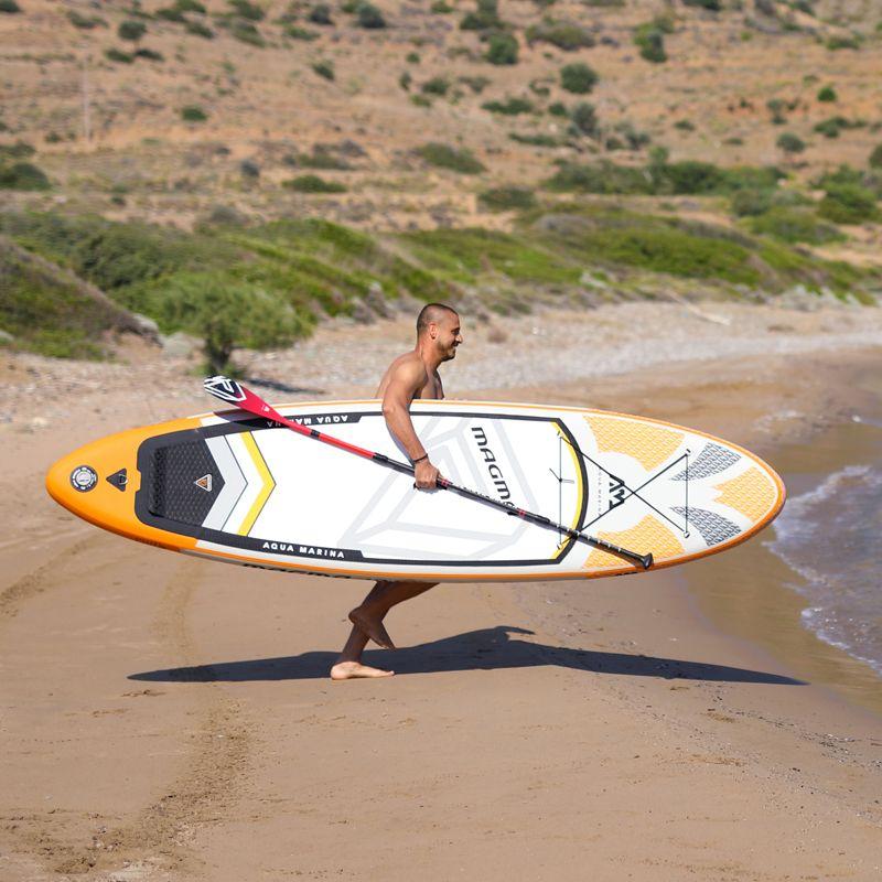 330*81*15 cm aufblasbare surf board stand up paddle board AQUA MARINA MAGMA pedal control sup bord tasche leine paddle A01005