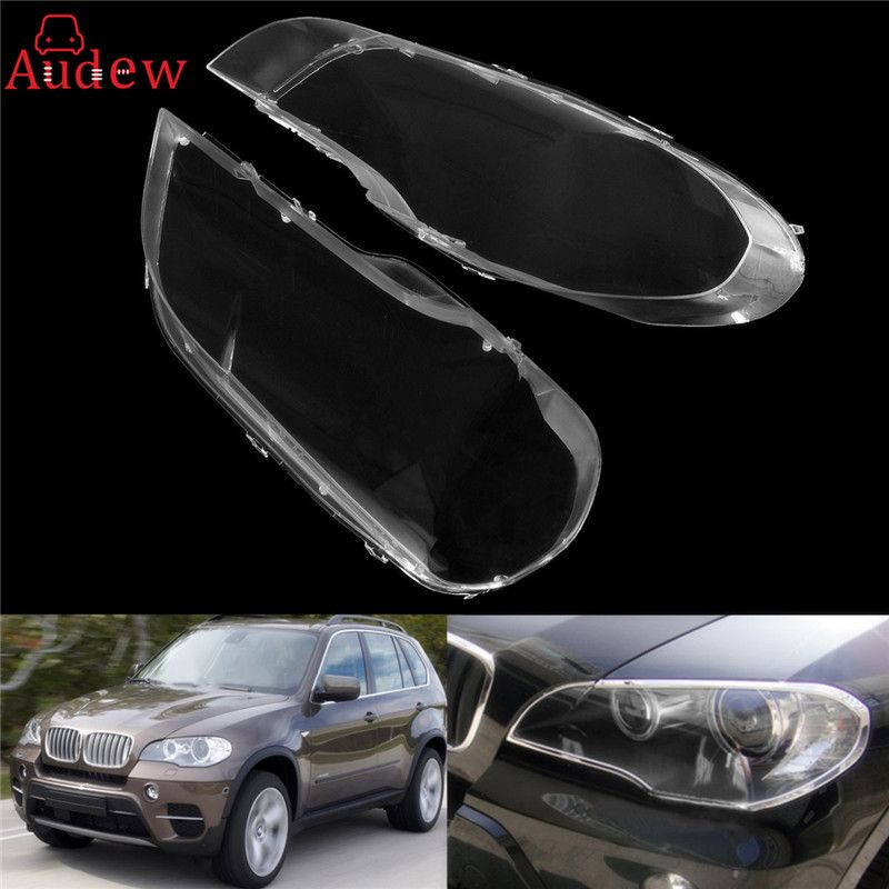 1Pcs Left /Right Transparent Housing Headlight Lens Shell Cover Lamp Assembly For BMW 2008-2013 X5 E70 Car Styling