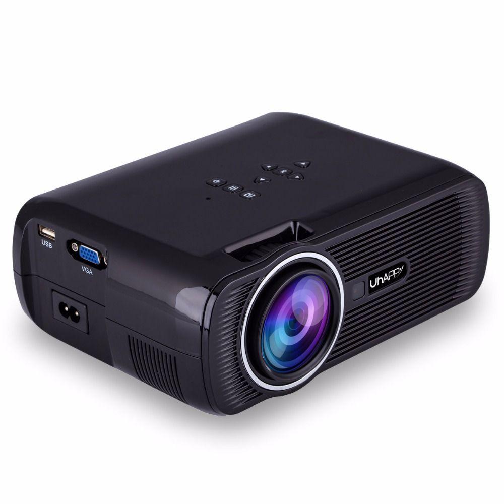 Новый U80 мини-проектор 2000 люмен HDMI ЖК-дисплей дома Театр Beamer LED накладные proyector Поддержка полный UHD 1080 P видео медиаплеер