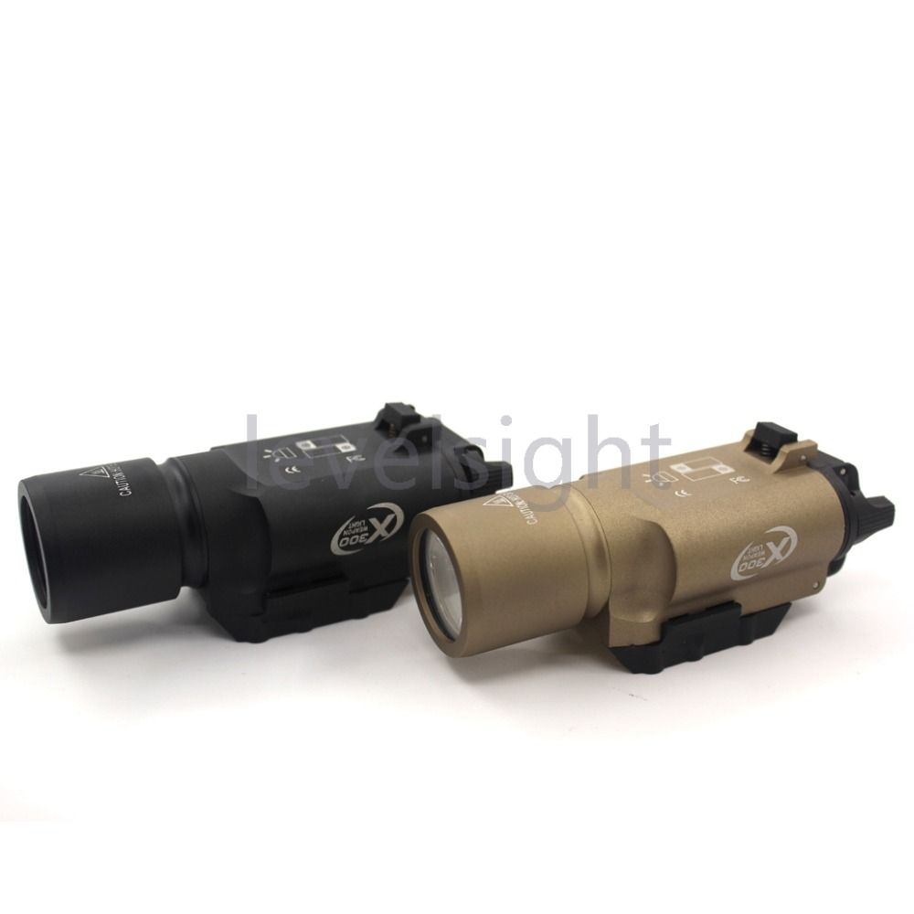 Tactical X300 LED 500 lúmenes luz fit Weaver/Picatinny Rail para Glock luz blanca caza