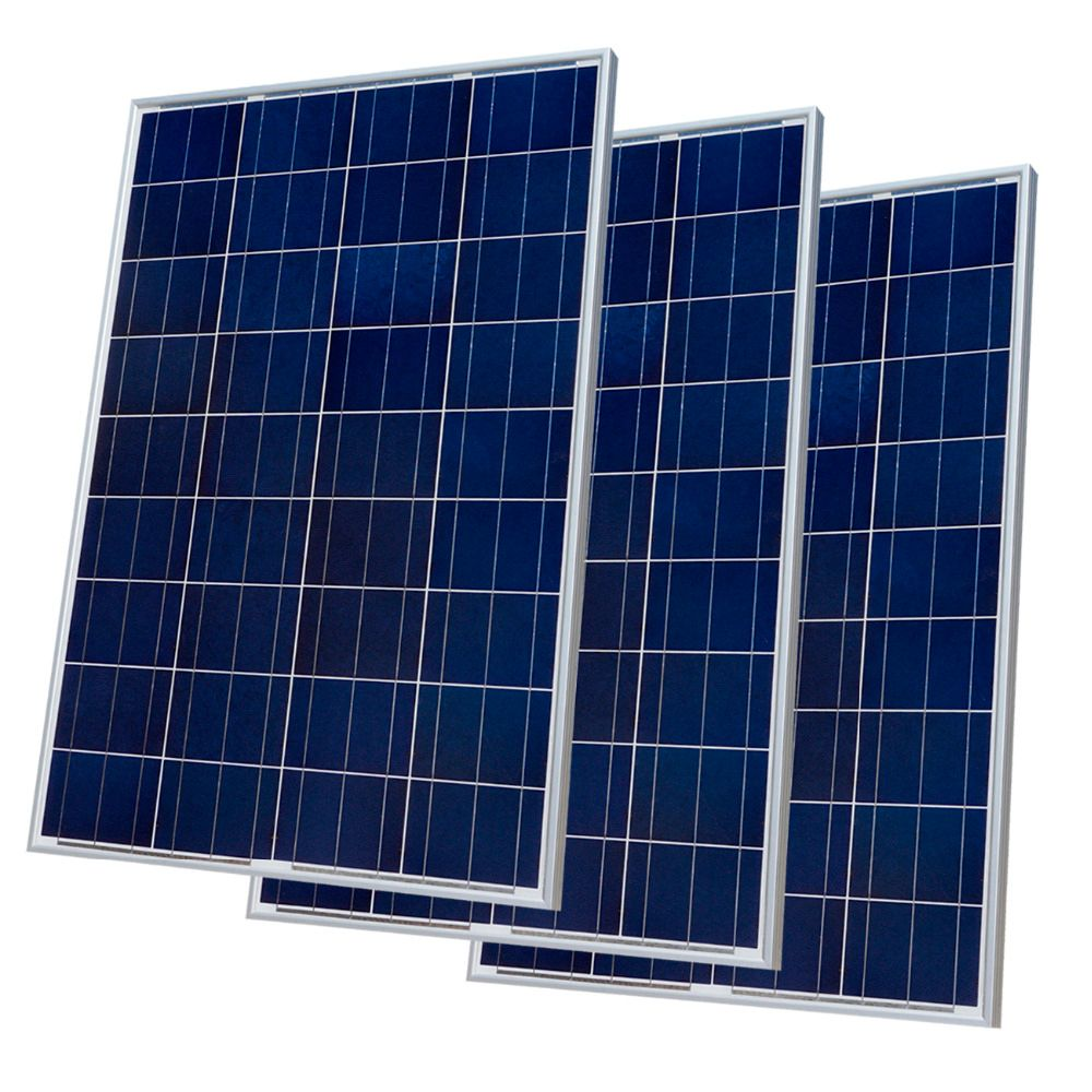 300W Solar Panel Kit : 3 x 100W Poly Solar Panel Advanced RV Solar charger for 12V battery Off Grid Solar System for home