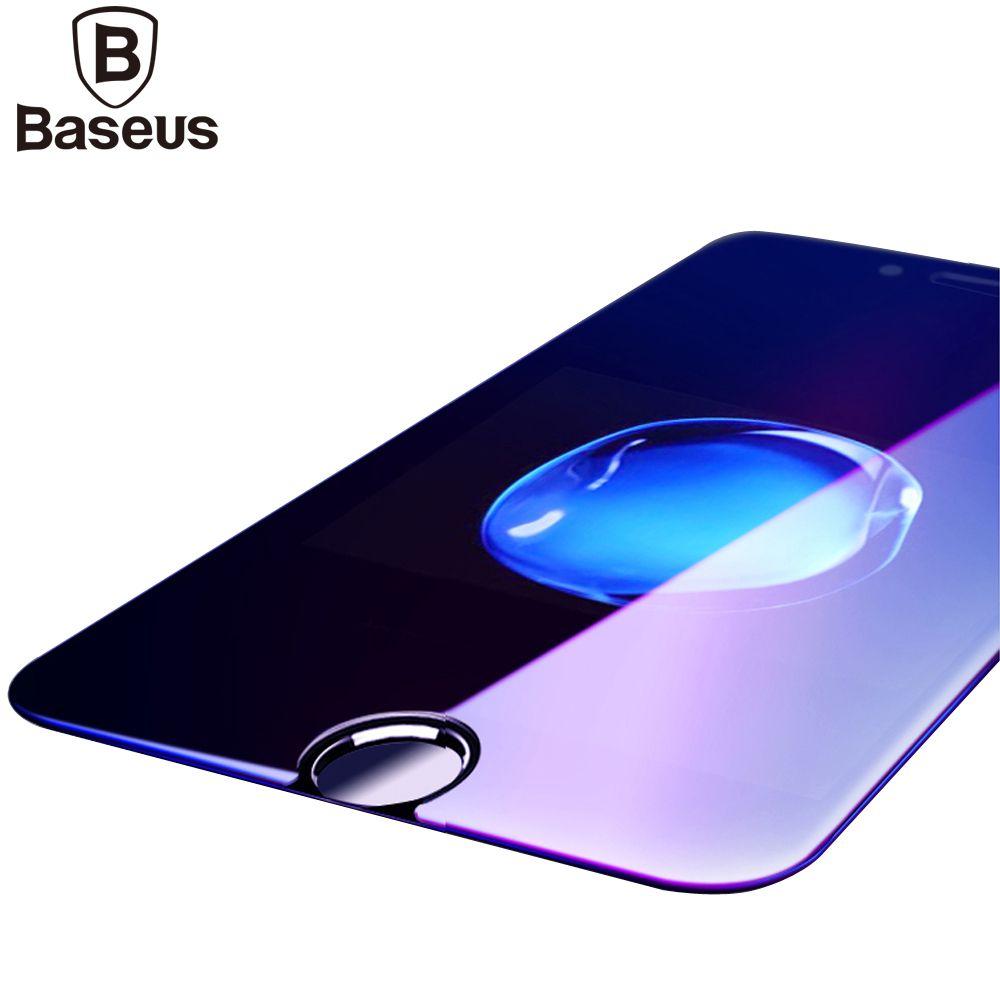 Baseus Trempé Verre Pour iPhone 6 6 s 0.23 MM 3D Anti Bleu Protecteur d'écran Pour iPhone 6 6 s Plus Souple Pleine Couverture De Protection Film