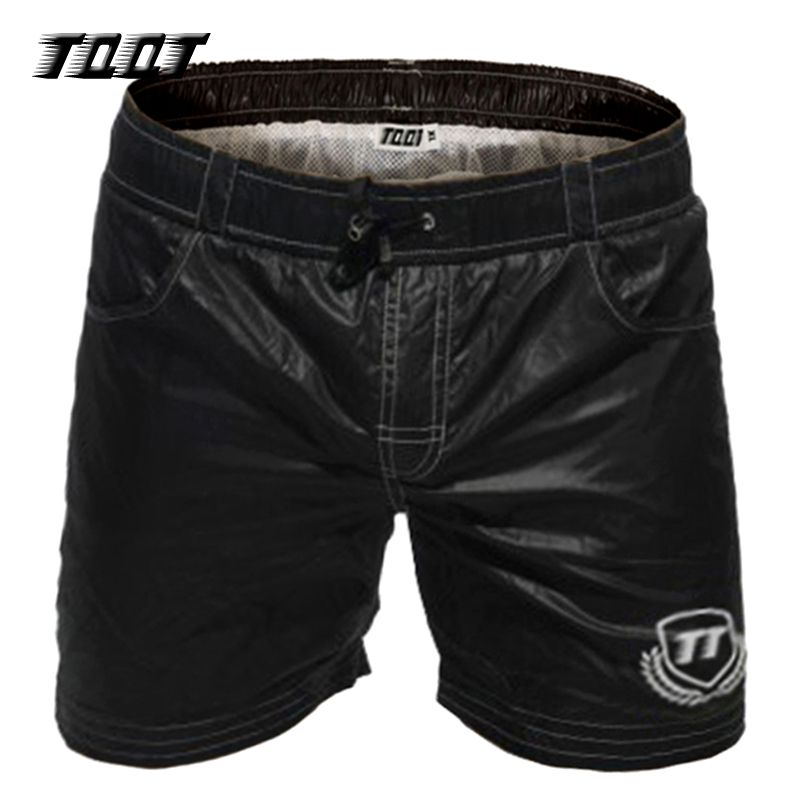 TQQT Shorts Homens Fashion Board Shorts Summer Swims Shorts Leather Swimwear Novelty Sunga Large Size Beidaihe Long Short 6P0603