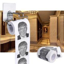 Donald Trump humor rollo de papel higiénico novedad Funny mordaza regalo volcado con Trump 2 capas 240 Sábanas