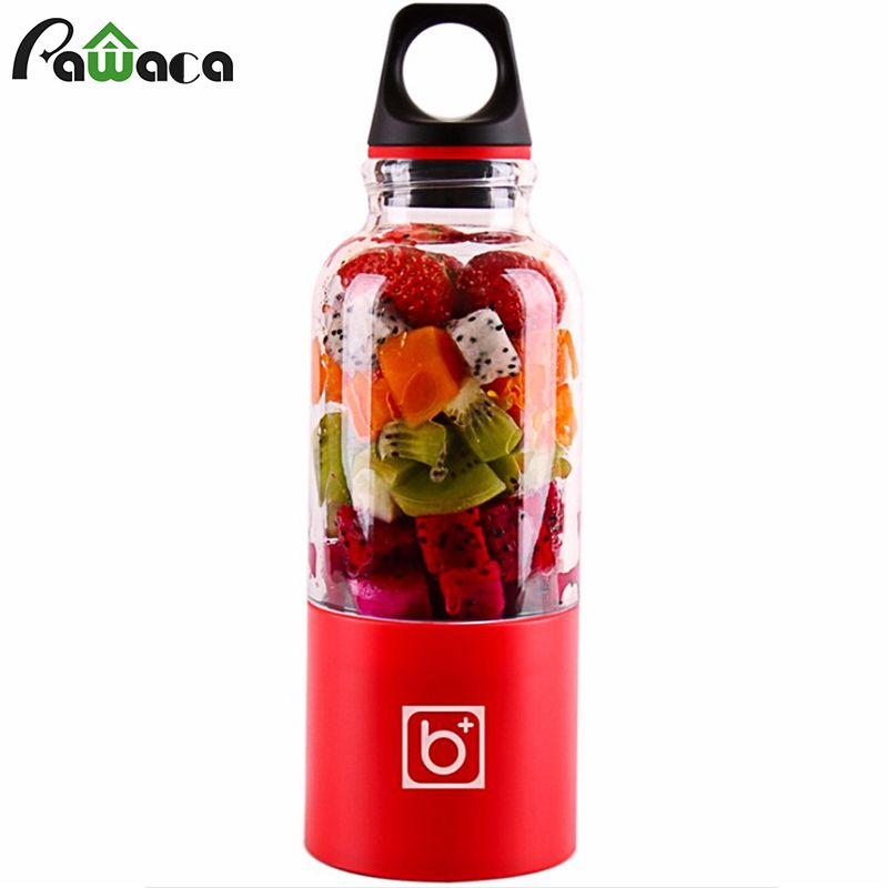 500ml Electric Juicer Cup <font><b>Mini</b></font> Portable USB Rechargeable Juicer Blender Maker Shaker Squeezers Fruit Orange Juice Extractor