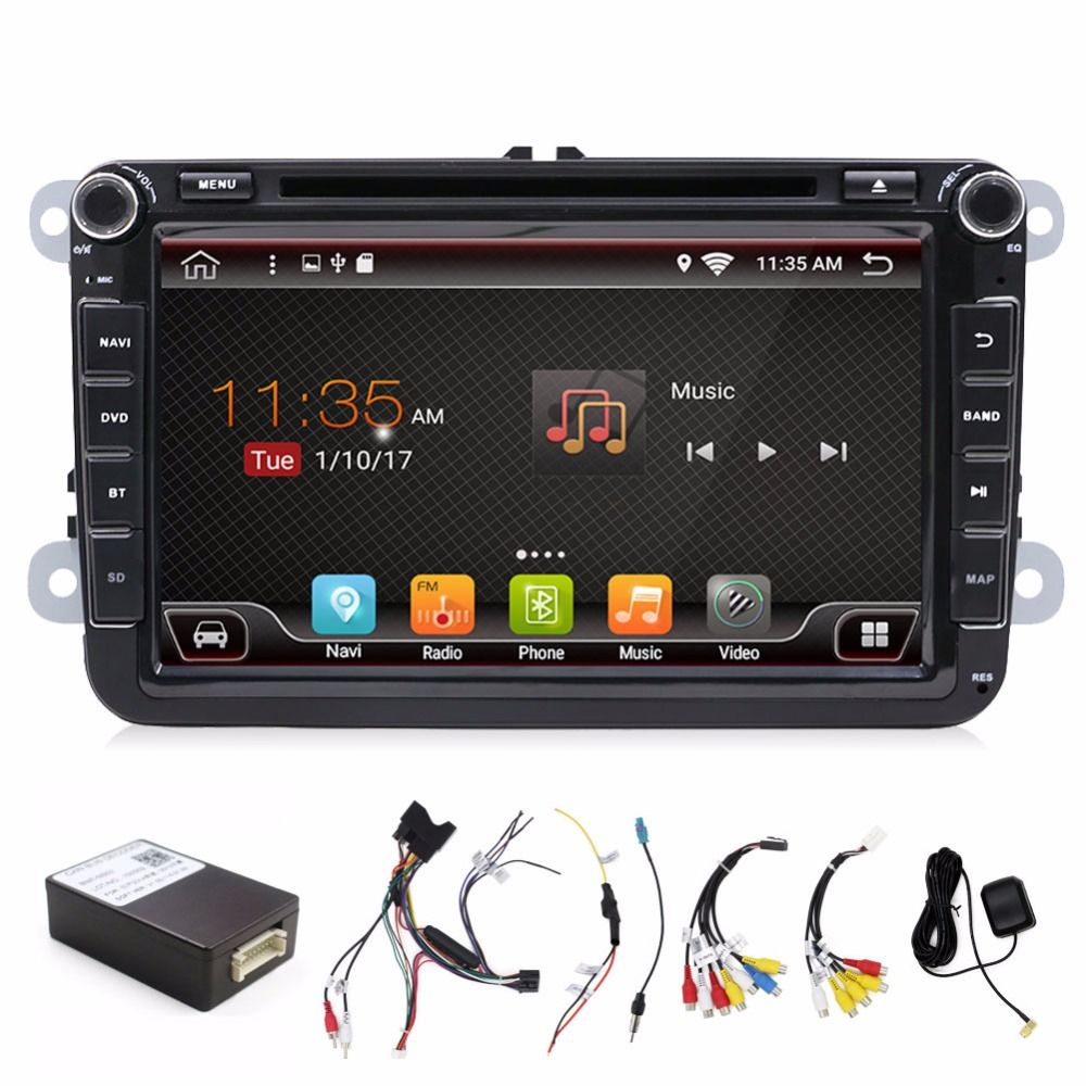 Car Multimedia VW GOLF CAR DVD for PASSAT B6 B5 JETTA POLO CC TIGUAN OCTAVIA CAR DVD ANDROID WIFI 8 inch Android 7.1