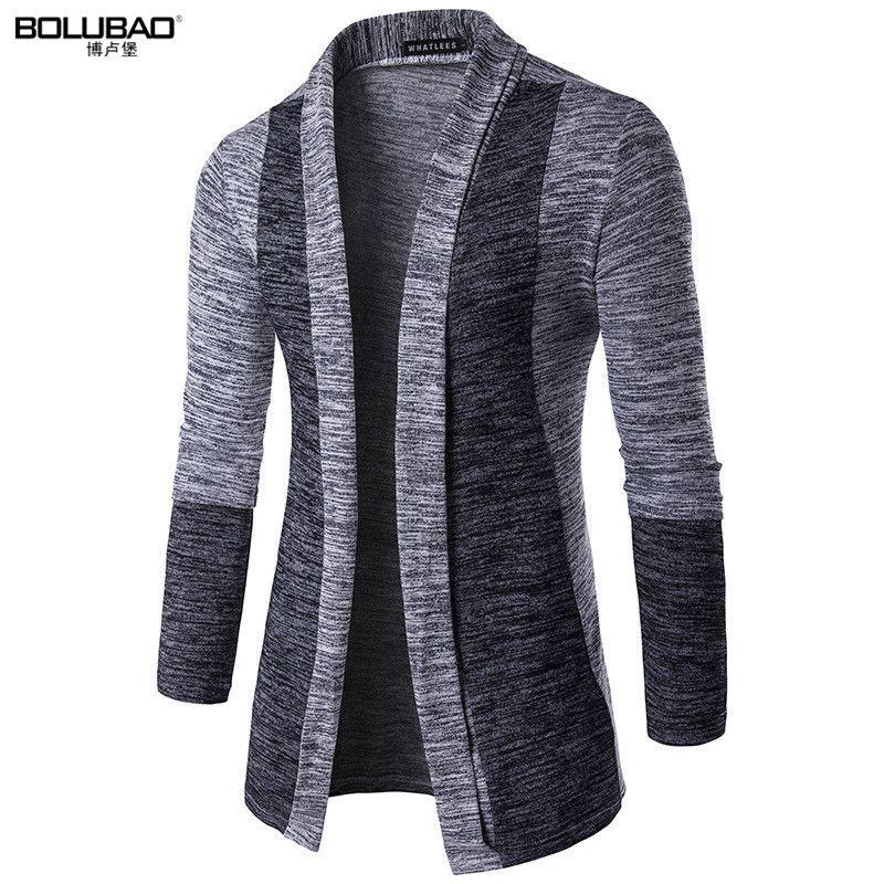 BOLUBAO offre spéciale marque-vêtements printemps Cardigan homme mode qualité coton chandail décontracté gris Redwine hommes chandails