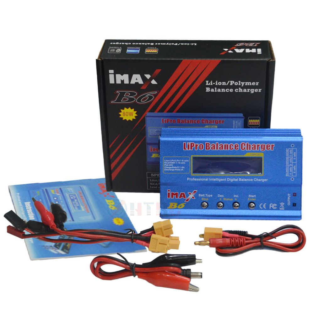 iMAX B6 80W DC Balance Charger Discharger Charging Cable Sets with XT60 connector large / mini Tamiya Deans plug Optional