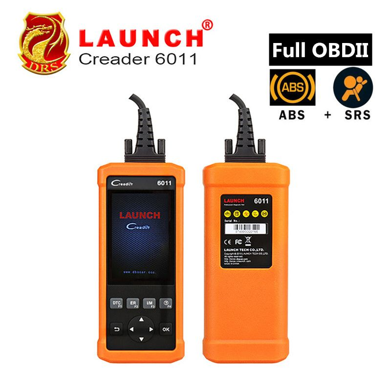 Original Launch CReader 6011 CR6011 OBD2 EOBD Car Diagnostic Tool Launch Scanner ABS SRS System Full OBDII Functions Code Reader