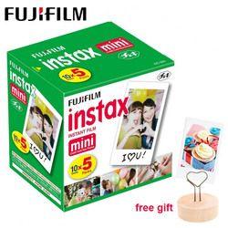 50 sheets Fujifilm Instax Mini 9 Film White Edge Photo Paper For Polaroid Camera Film Mini 8 7s 70 90 25 55 SP-2 Instant Camera