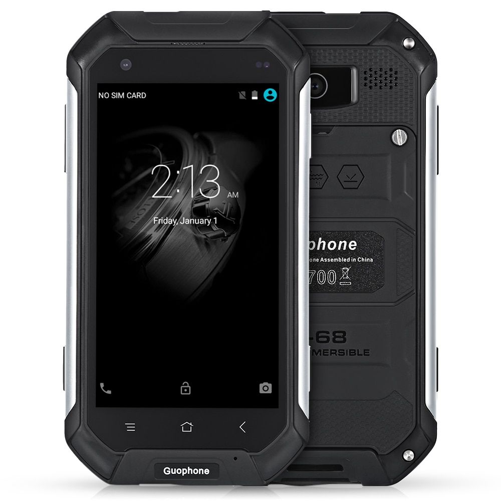 Guophone V19 4.5 Inch Android 5.1 3G Smart Phone <font><b>IP68</b></font> Waterproof Dust And Shock Resistant MTK6580 Quad Core 2GB RAM 16GB ROM