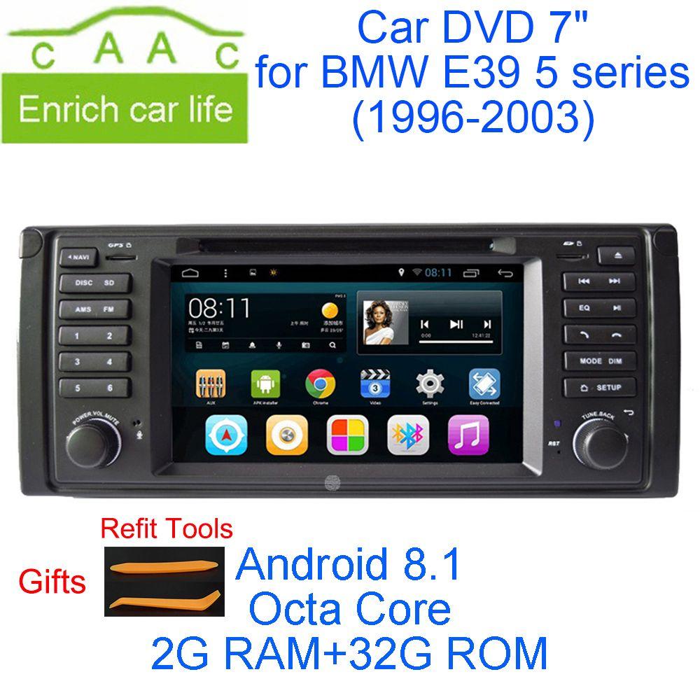 Neueste Android 8.1 Octa Core 2g RAM 32g ROM GPS Navi 7 Auto DVD Player für BMW E39 5 serie 1996-2003 mit BT/RDS/Radio/3g/WIFI