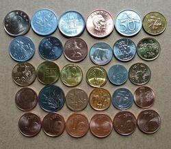 Original 30 monedas colección conjunto de mundo 30 países tamaño 15-21mm Asia África América Europa