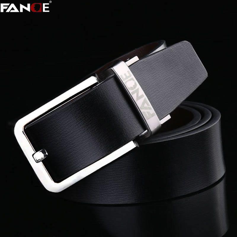 FANGE men belt men leather belt mens casual high quality male Fashion designer jeans chain stretch luxury brand black FG9261