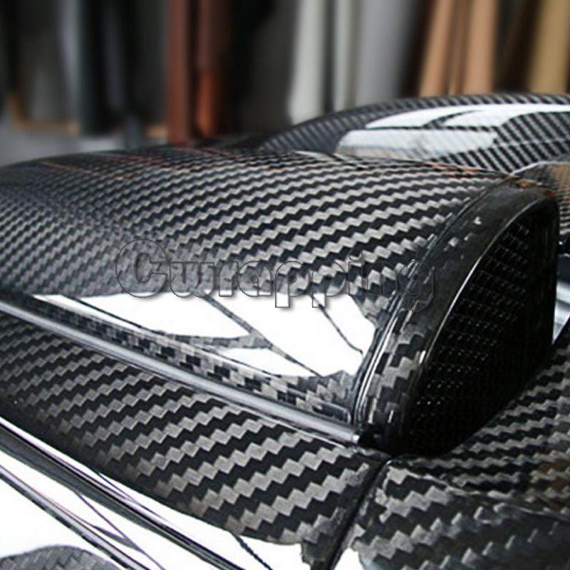 Super qualité Ultra Brillant 5D En Fiber De Carbone Vinyle Wrap Grand Texture Super Brillant 5D Carbone Film Avec Taille 50 cm * 150 cm/200 cm/300 cm