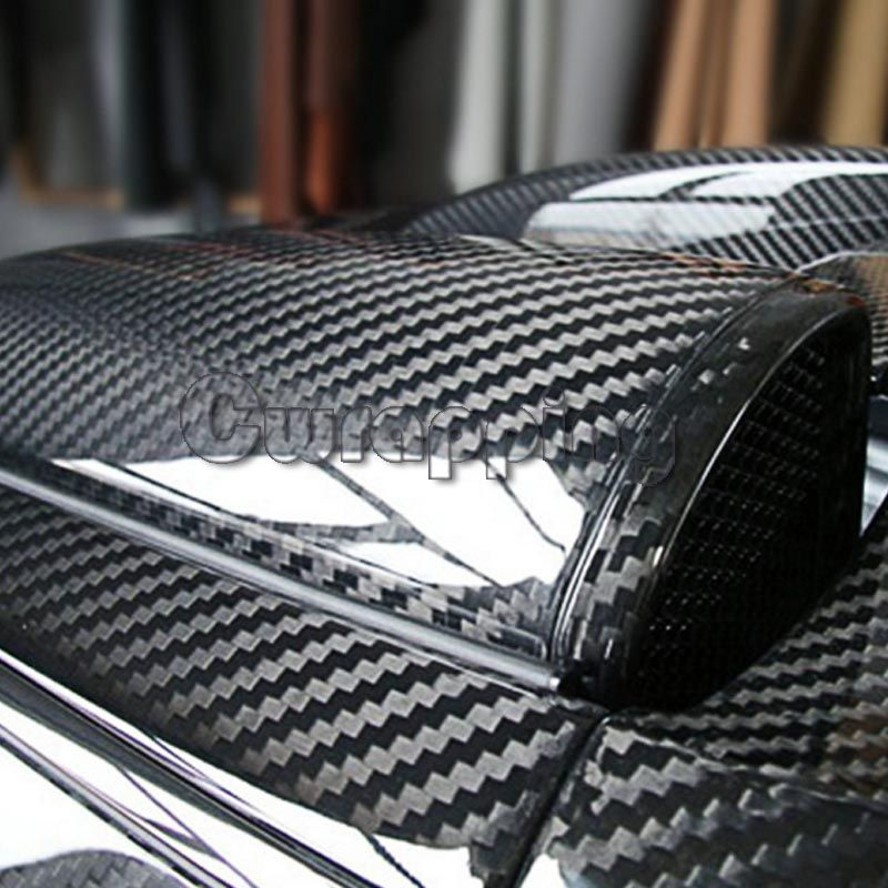 Super quality Ultra Gloss 5D Carbon Fiber Vinyl Wrap Big Texture Super Glossy 5D Carbon Film With Size 50cm*150cm/200cm/300cm