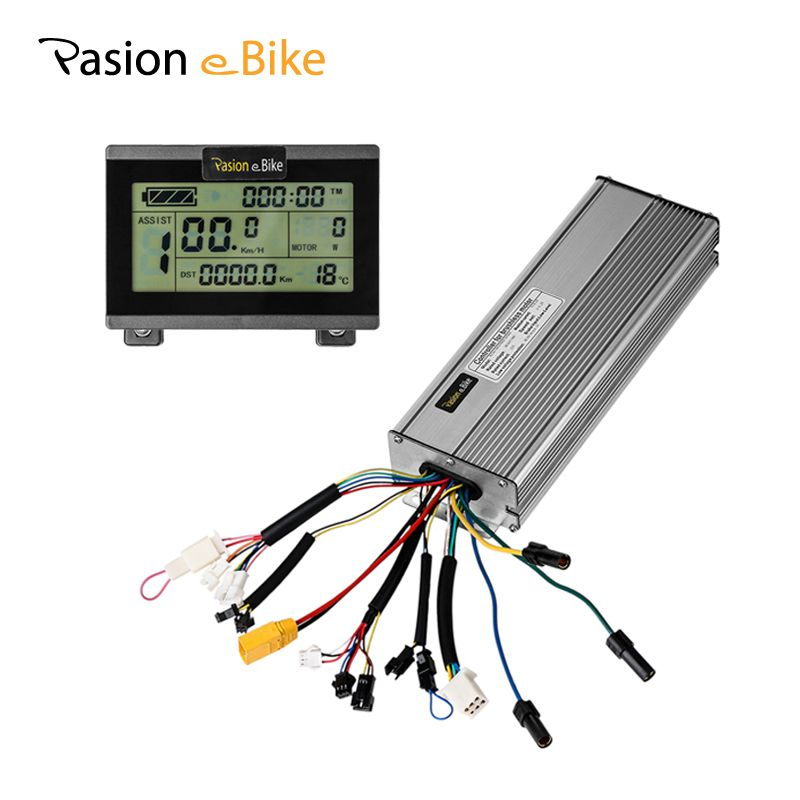 PASION E BIKE Brushless Controller 45A 48V 18 MOSFET Controller & LCD Display 1500W 2000W DC Sine Wave Ebike Display Controller