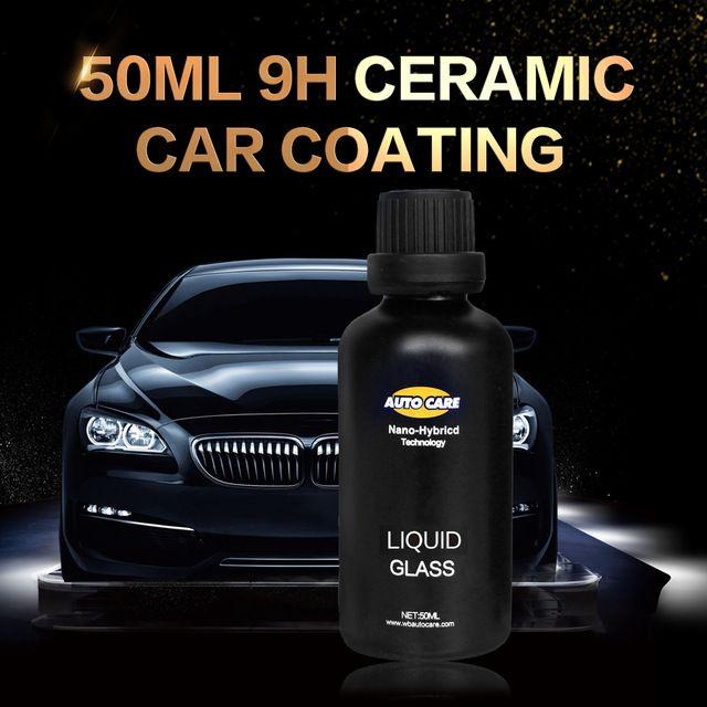 Ceramic Car Coating Liquid Glass 50ML 9H Hardness Car Polish Motorcycle Paint Care Nano Hydrophobic Coating Spray Nozzle Choice