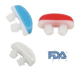 FDA Relieve Snoring Nose Snore Stopping Breathing Apparatus Guard Sleeping Aid Mini Snoring Device Anti Snore Silicone