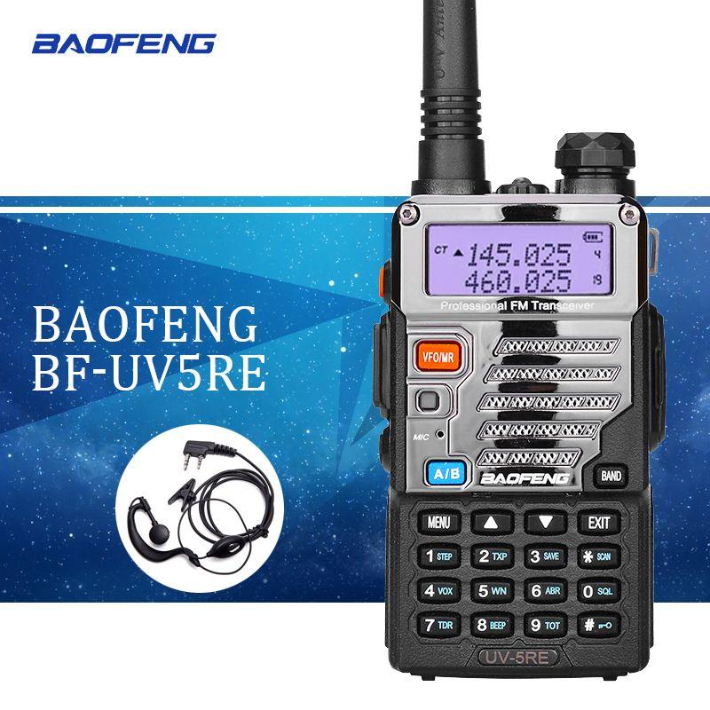 1PCS Baofeng UV5RE Walkie-Talkie UV5R Upgraded Version UHF VHF Dual Watch CB Radio VOX FM Transceiver for Hunting Radio