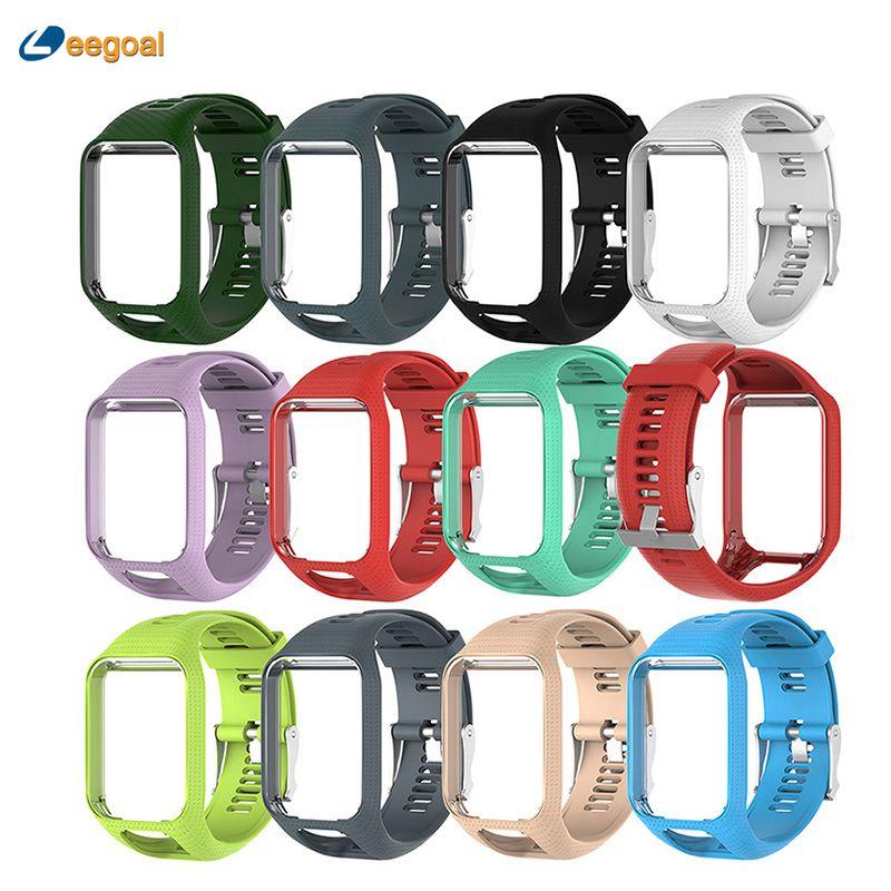 Leegoal Replacement Band for TomTom Runner 2 3 Watchband Strap for TomTom Spark Golfer Adventurer Spark 3 GPS Watch TPE