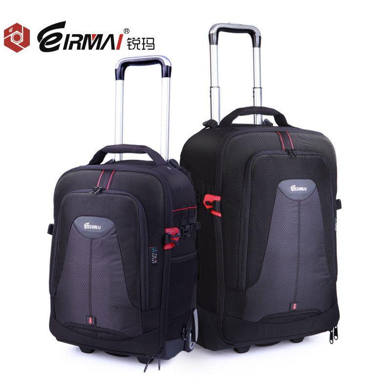 EIRMAI Photo SLR Trolley Case Camera Nylon Bags Big Capacity DSLR Waterproof w/ Rain Cover Backpack Large Space Trolley Case