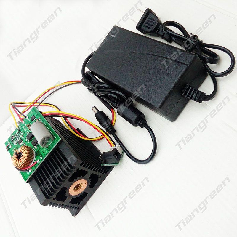 Módulo de alta potencia 15 w Grabado Láser Cabeza 15000 mW 445nm 450nm Láser Azul BRICOLAJE Marcar en CNC de Corte máquina