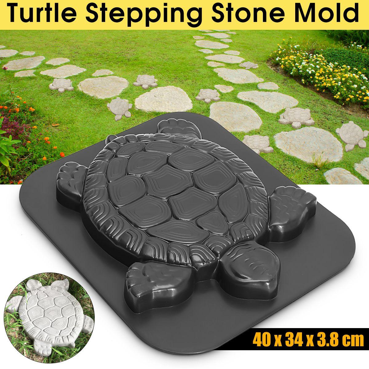 44CM Turtle Stepping Stone Mold Path Maker Walk Maker Pavement Concrete Cement Mould ABS Tortoise For Garden Decor