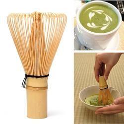 64 Bamboo Matcha Kocokan Praktis Jepang Sikat Profesional Teh Hijau Bubuk Kocokan Chasen Teh Upacara Sikat Alat Penggiling