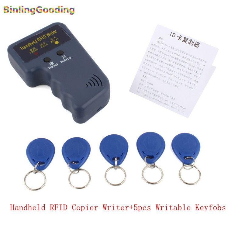 Handheld 125 KHz RFID Copier Schriftsteller RFID Duplicator EM ID Kopierer + 5 Stücke EM4305/T5577/CET5200 Wiederbeschreibbare Keyfobs