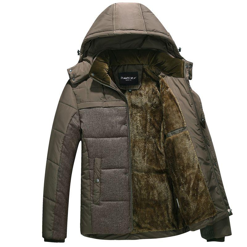 2019 nouvelle marque hiver chaud veste pour hommes à capuche manteaux décontracté hommes épais manteau mâle mince décontracté coton rembourré décontracté chaud