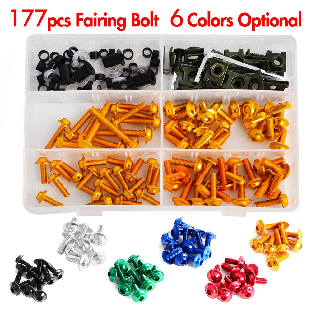 NICECNC Complete CNC Fairing Bolts Kit Bodywork Screws Nut For Suzuki Vstrom 650 1000 DL650 DL1000 TL1000S TL1000R GSX1300R