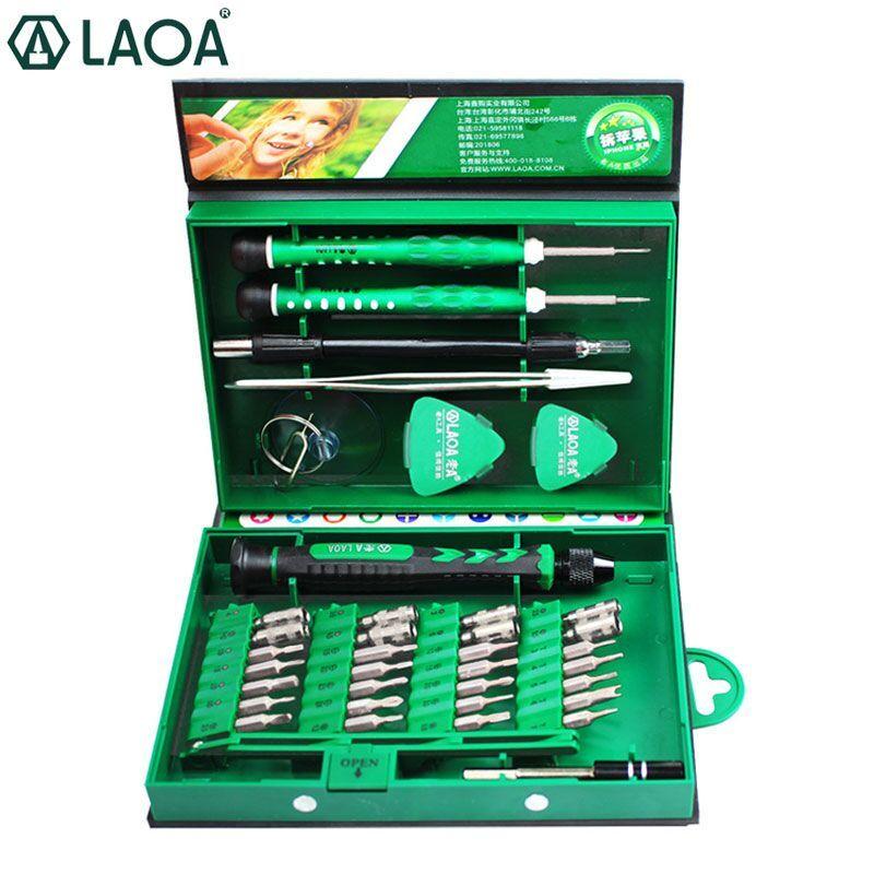 Ensemble de tournevis LAOA 38 en 1 ensemble de tournevis de précision ensemble d'outils de réparation de téléphone portable pour ordinateur portable Kit d'outils à main précis pour tournevis