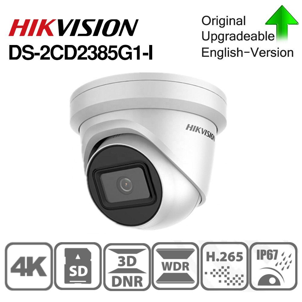 Hikvision Original Europa Lager IP Kamera DS-2CD2385G1-I 8MP Netzwerk CCTV Kamera H.265 CCTV Sicherheit POE WDR SD Card Slot