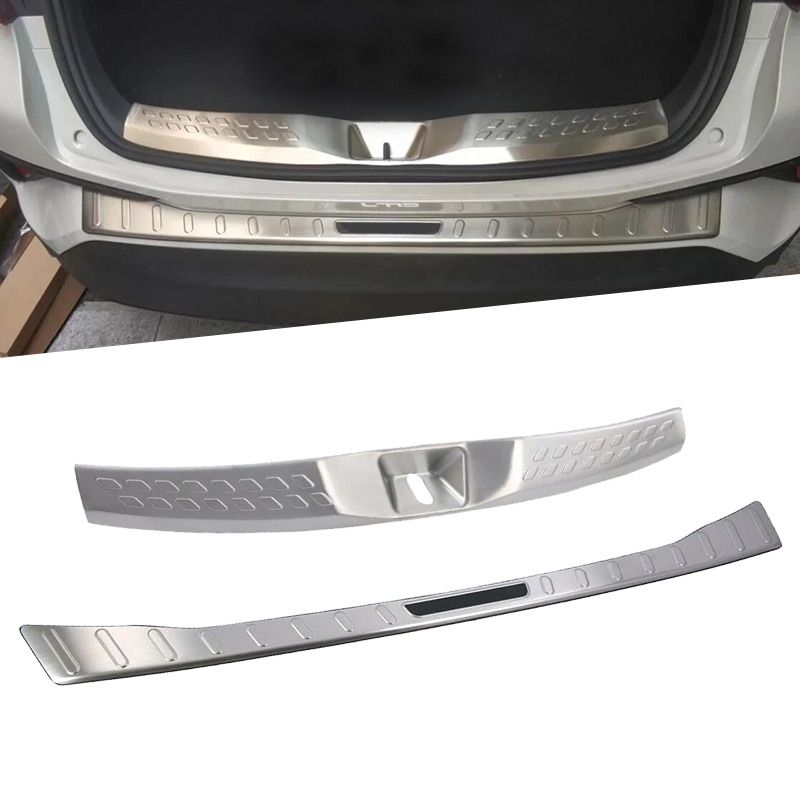 Exterior Stainless steel Rear Door Bumper Protector Guard Plate Cover Decoration Molding For Toyota C-HR CHR 2016 2017