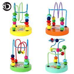 HOT anak mainan bayi boneka mainan anak-anak Pendidikan manik-manik string dari manik-manik permainan Mini sekitar chassis hewan Banyak gaya oleh acak