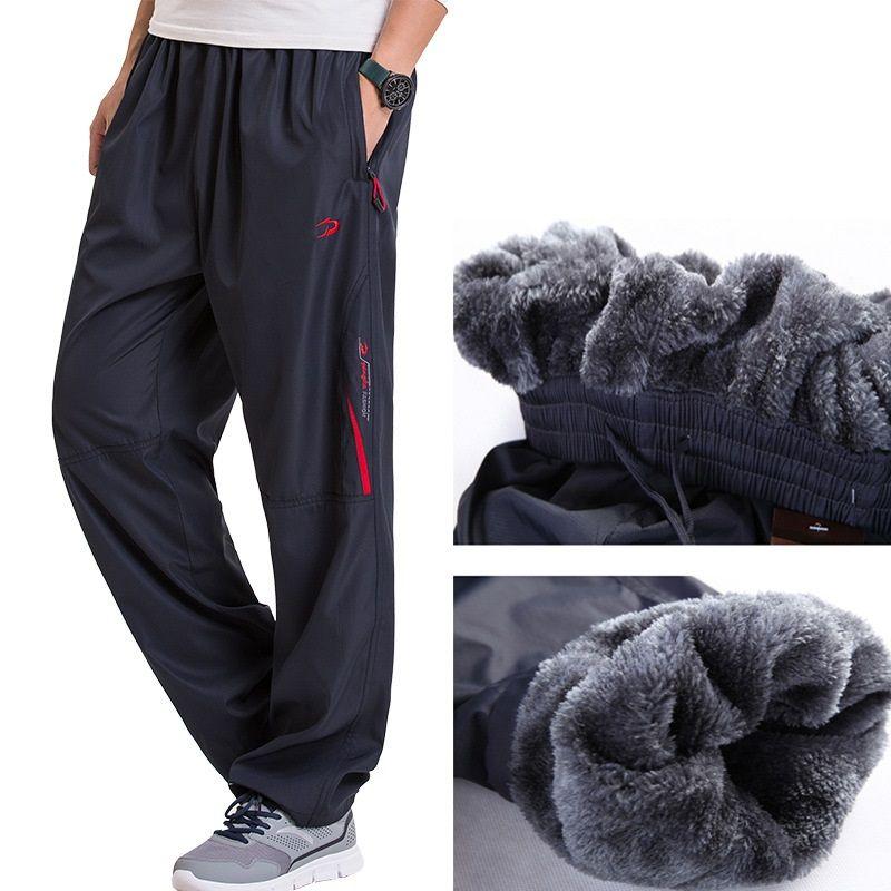 Grandwish/Для мужчин зимние Брюки для девочек Большие размеры шерсть внутри зима теплая Для мужчин толстые Брюки для девочек Большие размеры 6xl ...