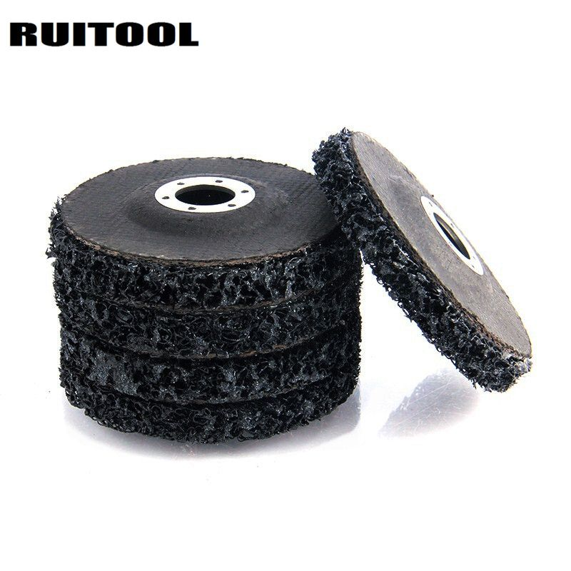 RUITOOL 115*22mm Polyurethane Strip Disc Polishing Wheels Metal Grinding Wheel Angle Grinder Disc For Metal Rust Remover