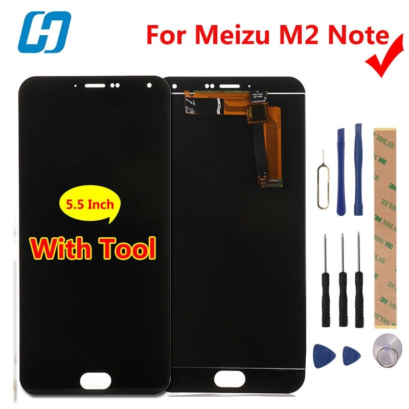 Meizu M2 Note LCD Display+Touch Screen Digitizer Glass Panel For Meizu M2 Note 1920x1080 FHD 5.5'' <font><b>Cell</b></font> Phone