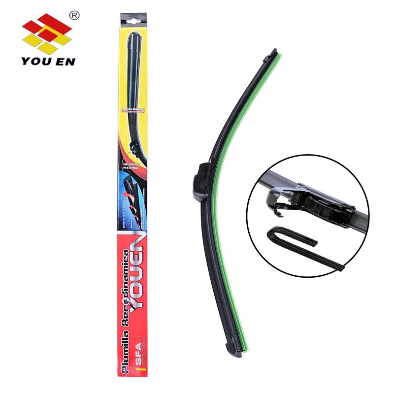 YOUEN 1Pc Car Windshield Wiper Blade Universal U-type Soft Frameless Bracketless 13 14 15 16 17 18 19 20 21 22 23 24 25 26 28