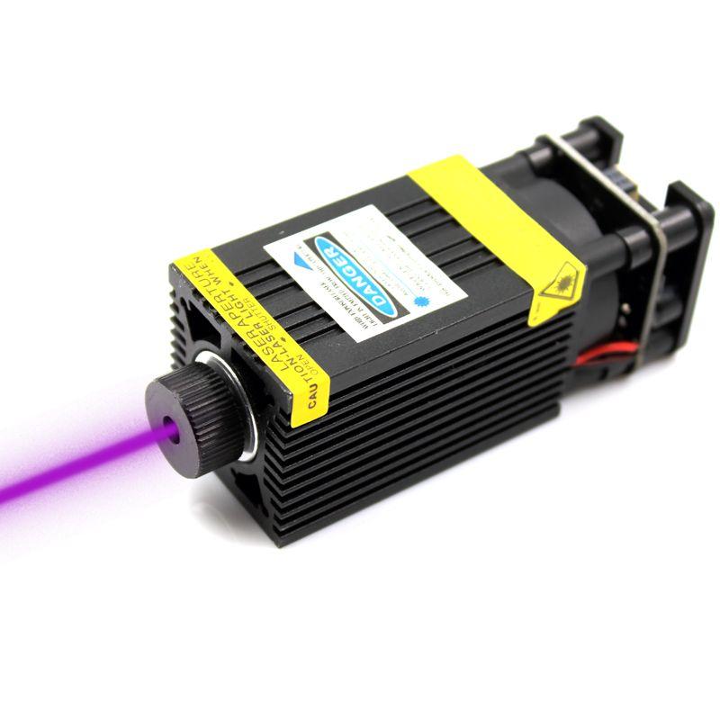 Oxlasers 500 mW 405nm 12 V 5A fokussierbar Laser Modul Laser Stecher teil Laser Kopf mit TTL PWM control UV LASER kostenloser versand